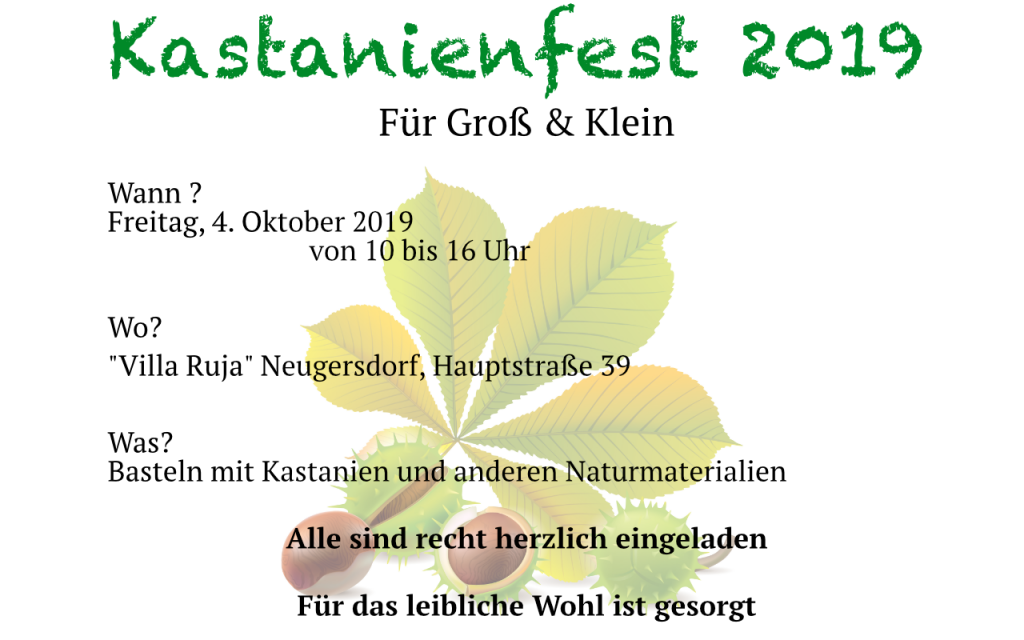 Kastanienfest 2019